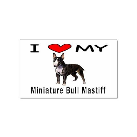 I Love My Miniature Bull Mastiff Rectangular Magnet