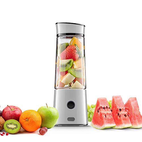USB Juicer Cup,Rechargeable And Portable Juicer,Mini Household Mixer For Baby Food,Fruit,Milk Shake,Personal Travel Blender Speed 16,500 rpm/min And 400ML Capacity, (FDA Approved, BPA Free