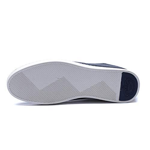 Fhtdn Mocassino Slipper Mocassini Grandi Mano Traspiranti Pelle Dimensioni Blue Da Casual Uomo In Guida Scarpe On A Slip Fatti SCS1rwPqgn