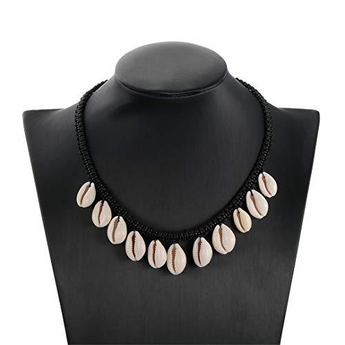 Baby Moana Shell Chokers Necklaces,Handmade Cowry Kids/Women Pendant Moana Ocean Necklace Prop Christmas/Halloween Cosplay -