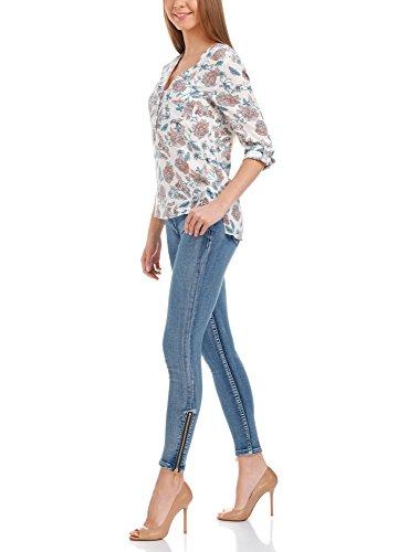 oodji Ultra Femme Jean Skinny avec Fermeture Éclair aux Chevilles, Bleu,  25W   30L (FR 34   XXS)  Amazon.fr  Vêtements et accessoires 65e35e127ff7