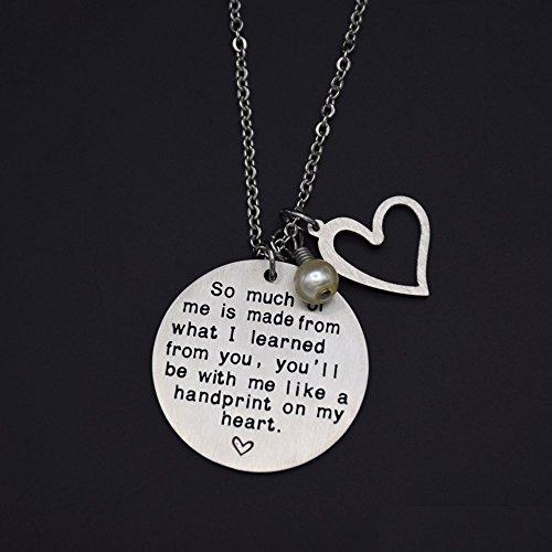 O.RIYA Graduation Gift, Teacher Necklace,Christmas Gifts for Teacher, Gift from Student, Teacher Gift, Personalized Teacher Jewelry by O.RIYA (Image #5)