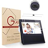 2 Pack Echo Show Screen Protector Webcam Cover,Tempered Glass High Definition Screen Protector for Echo Show 1st Generation with Camera Cover