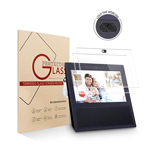 Price comparison product image 2 Pack Echo Show Screen Protector Webcam Cover, Tempered Glass High Definition Screen Protector for Echo Show 1st Generation with Camera Cover, Echo Show Accessories