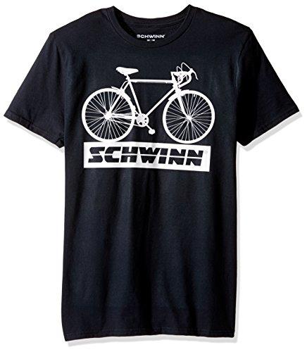 Schwinn Men's Classic Bicycle Short Sleeve Graphic T-Shirt, Black, Large