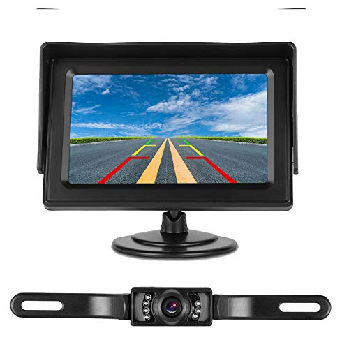 Use Camera Single Waterproof (iStrong Backup Camera System 4.3'' Monitor for Truck/Car/Pickup/Camper/SUV Mount Windshield Optional IP68 Waterproof Connecting Single Power Reversing/Driving Use Night Vision)