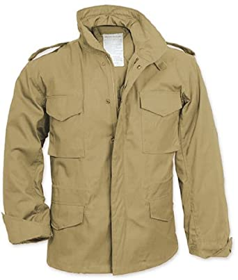 Amazon.com  Khaki Military Style M-65 Field Jacket 8254 Size Large ... 91229fbbbd2