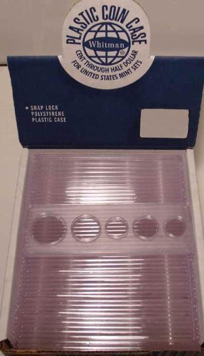 25 Whitman 2x6 Snaplocks 5-Coin Set CENT-HALF by Whitman - Holder Coin Set