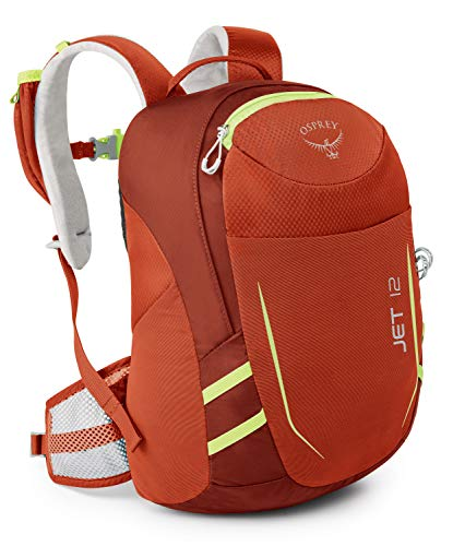 Osprey Youth Jet 12 Backpack, Strawberry Red, One Size
