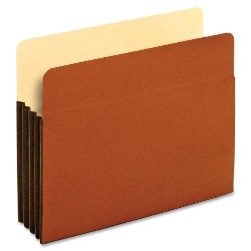 Expansion Tyvek Pockets (Globe-Weis/Pendaflex File Pockets, 3.5-Inch Expansion, Tyvek Gussets, Letter Size, Brown, 10 Pockets per Pack (63264))