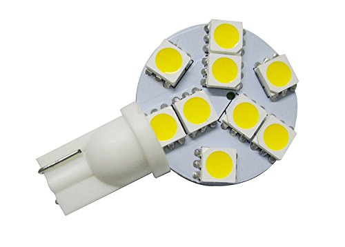 GRV T10 192 168 921 194 9-5050 SMD LED Bulb lamp High Bright Warm White DC 12V Pack of 6 by GRV
