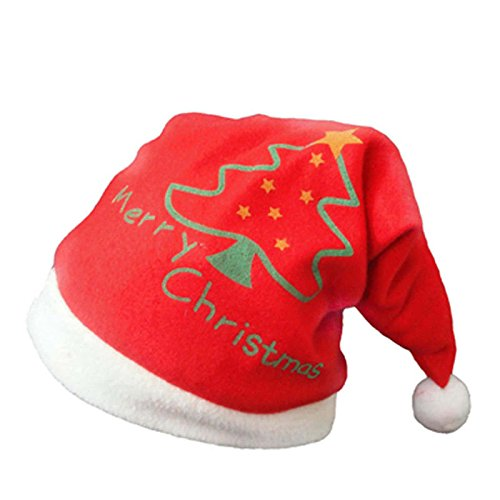 2015 Cute Santa Claus Hat Velvet Christmas Xmas Adult Kid Children Costume (Children's Place Butterfly Costume)