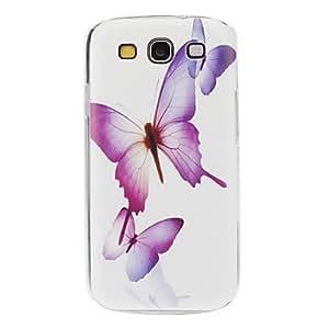 JAJAY-Flying Butterflies Pattern Hard Case for Samsung Galaxy S3 I9300