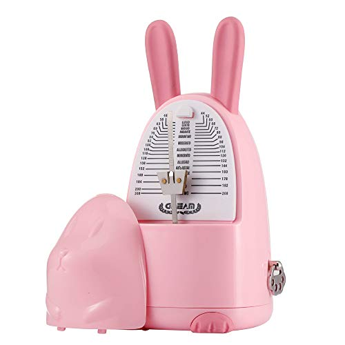 - Multifunctional Cartoon Mechanical Metronome for Piano, Guitar, Violin with Bell (Pink Rabbit)