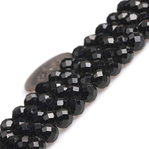 JOE FOREMAN Black Tourmaline Spacer Gemstone Beads for Jewelry Making 15