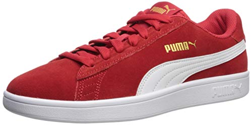 PUMA Men's Smash V2 Sneaker, high Risk red White Team Gold, 6 M US