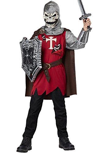 [Mememall Fashion Evil Skull Knight Medieval Warrior Child Halloween Costume] (Mens Evil Knight Costumes)