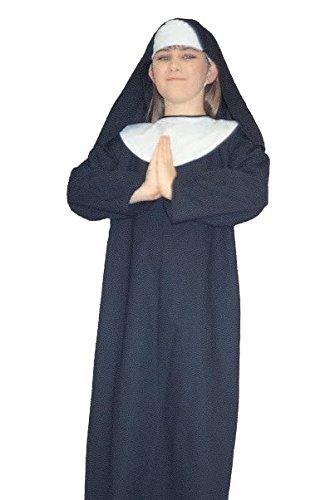 Lil Sister Nun Kids Costume ,Black ,Large