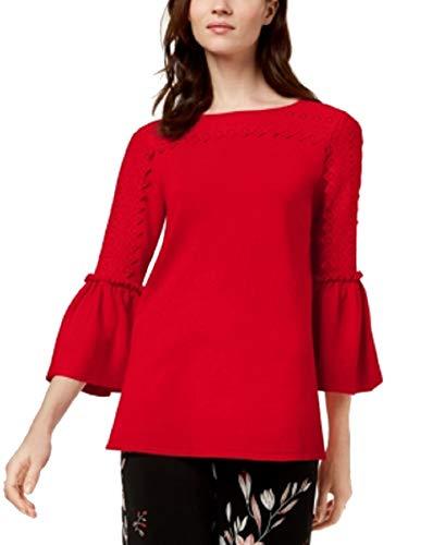 Alfani Bell-Sleeve Sweater (Red, - Alfani Red Sweater