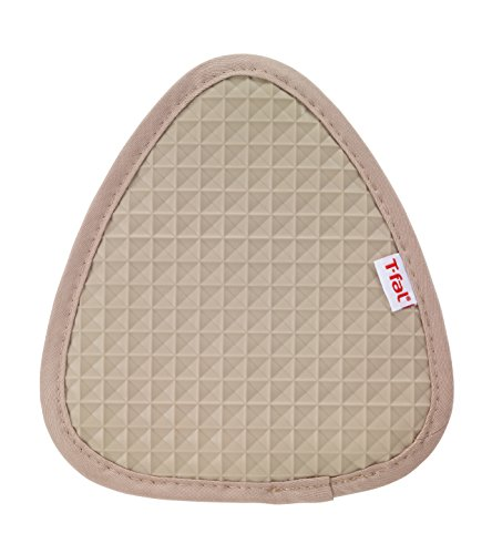 T-fal Textiles Silicone Waffle Softflex Non-Slip Grip 100% Cotton Twill Heat Resistant Pot Holder, 8.25-inches x 7.5-inches, Sand