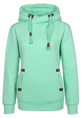 Sublevel Sweatshirt Kapuzenpullover | Hoodie sportlich-elegant für Damen - Top Qualität und Tragekomfort dank hohem Baumwollanteil light turquoise L