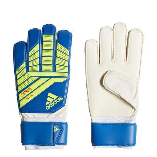 adidas Predatorator Top Training Goalkeeper Gloves, Football Blue/Bold Blue/Solar Yellow, Size 10