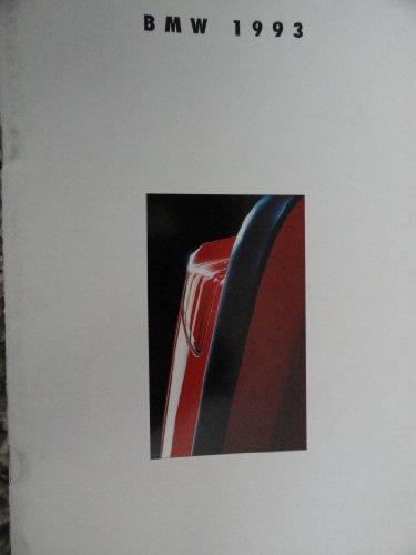 1993 BMW Sales Brochure 850ci / 750il / 740i / 740iL / 5 Series / 3 Series / M5 (Sales Bmw Brochure)