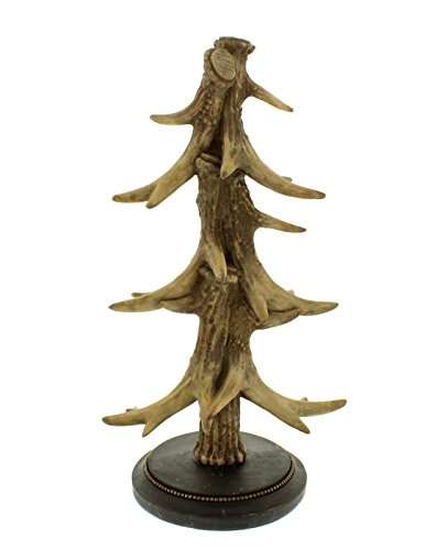 Festive Productions Polyresin Antler Christmas Tree, Microfibre Brown, 19.7 x 14 x 36.5 cm