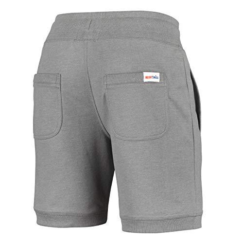 Swiss© De Short Bermuda Pour pantalons Acier Détente Gris jogging 100 Survêtement Coton short Homme Luca Mount qET8dxnq