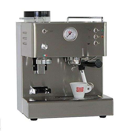 Espresso Siebträgermaschine mit integriertem Mahlwerk Quick Mill Pegaso 03035L