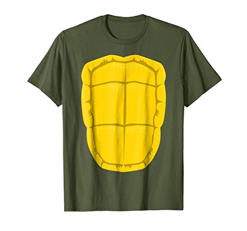 Mens Funny Turtle Shell Halloween Costume Shirt Gift Clever DIY 2XL Olive -