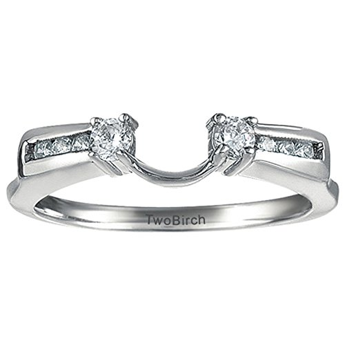 Diamond Anniversary Ring Wrap Enhancer in Platinum G-H SI2 to I1(0.31Ct) Size 3 To 15 in 1/4 Size Interval ()