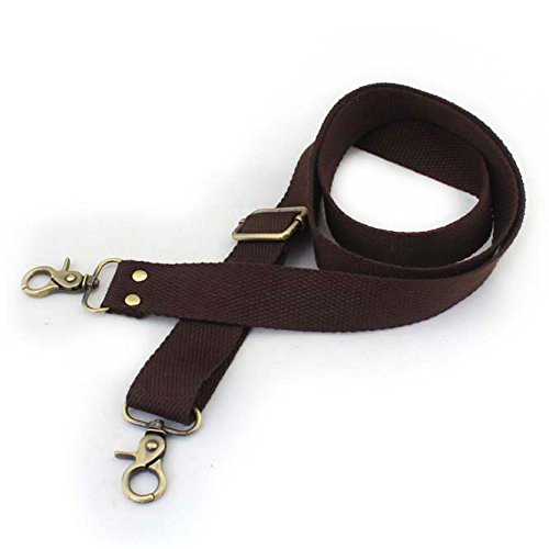 Wento 1pcs 31''-57'' Webbing Shoulder Cross Dark Brown Bag Strap,replacement Cross Body Purse Straps,Dark Brown canvas purses straps WTD034 (Dark Brown)