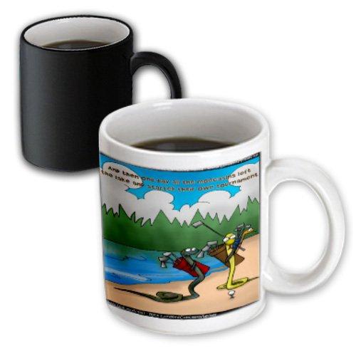mug_18047_3 Londons Times Gen 2 Sports - Snake Golf - Mugs - 11oz Magic Transforming Mug