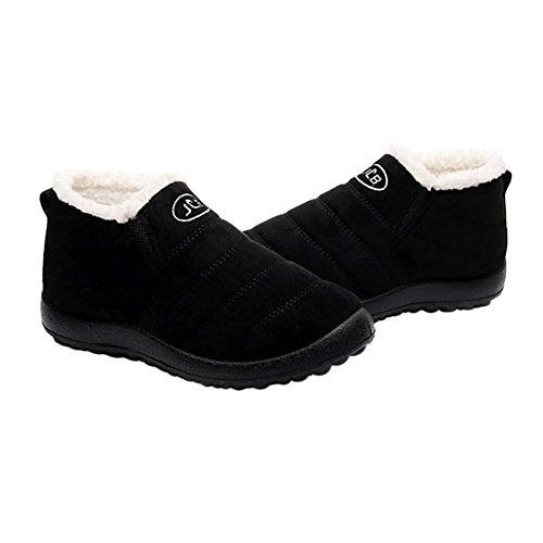 Schwarz Winter Schuhe Frauen Knöchel Schneeschuhe Rutschfeste Dicke Hzjundasi fPUB6wqw