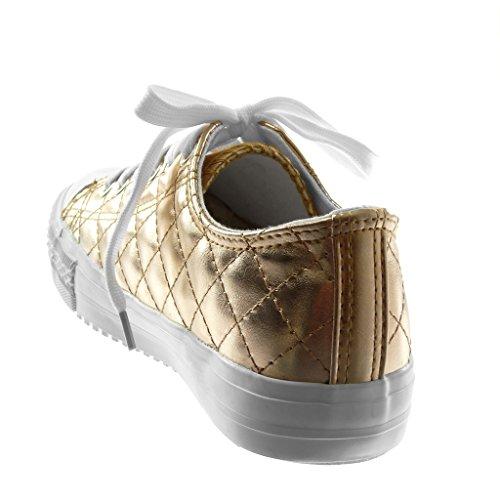 Moda Tac Acolchado Mujer Tennis Zapatillas Zapato Deportivos Angkorly vWTwZaq4w
