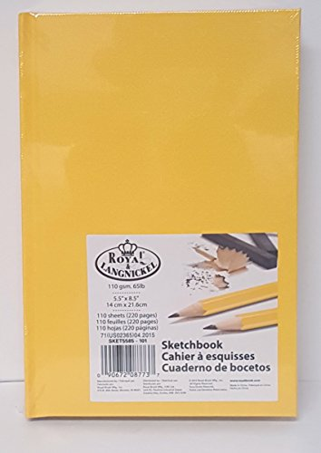 royal-langnickel-sketchbook-55-x-85-220-pages-yellow-hardcover-drawing-book