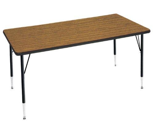 Virco VIR482448LO0840101 4000 Series Short Activity Table, Adjustable Legs, 48