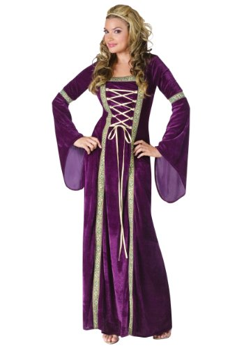 Fun World Costumes Funworld Deluxe Renaissance Lady, Purple, Small/Medium 2-8 ()
