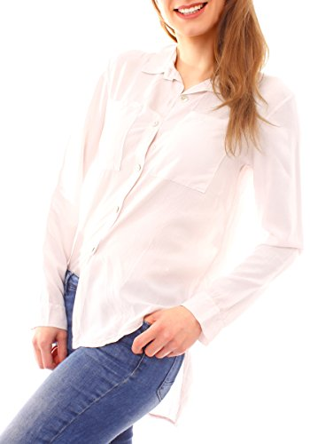Fragola Moda - Camisas - Camisa - Básico - Clásico - para mujer pfirsichrosa