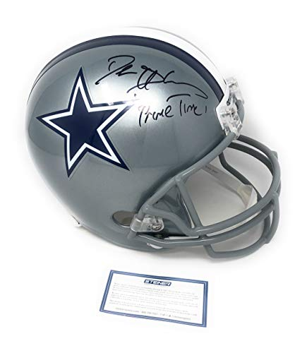 Deion Sanders Dallas Cowboys Signed Autograph Full Size Helmet PRIMETIME INSCRIBED Steiner Sports Certified