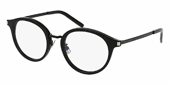 7d50090016 Image Unavailable. Image not available for. Color  Saint Laurent SL 91  (Black Black Eyeglasses