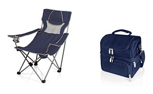 ピクニック時間もOK Chair and Pranzo Lunch Tote – ネイビー、2のセット B06XPS829Y