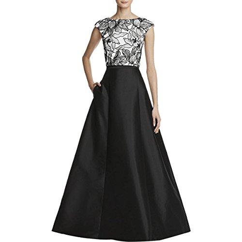 ivory and black bridesmaid dresses - 9