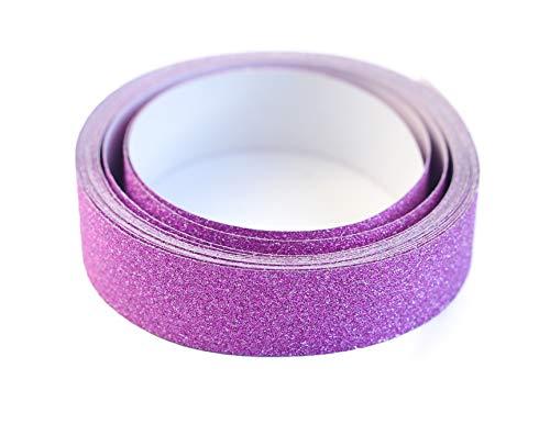 Darice Bulk Buy DIY Washi Sparkle Tape Hot Pink 15mm 3 Yards (3-Pack) 121722