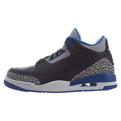 Da Schwarz Grau Blau Scarpe grauer Uomo Retro Air Jordan 3 Nike Blau Fitness schwarz Wolf Sport 8nwX4Avqnx