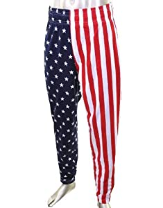 Otomix Men's American Flag USA Baggy Muscle Workout Pants by Otomix