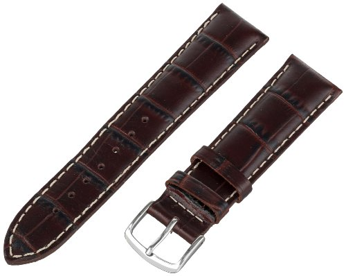 Hadley-Roma Men's 20mm Leather Watch Strap, Color:Brown (Model: MSM834RB-200)