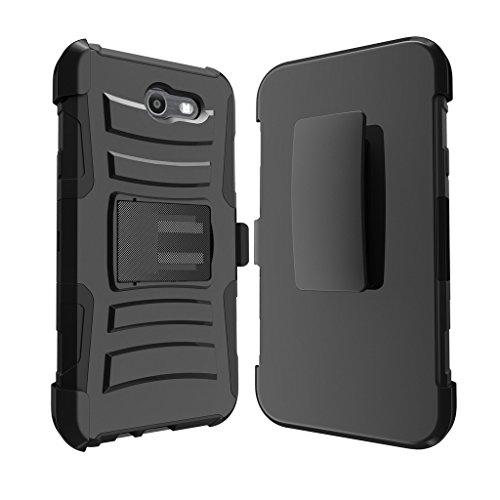 TurtleArmor   Compatible for Samsung Galaxy J7 2017 Case   J7 Prime   J7 Sky Pro [Hyper Shock] Hybrid Dual Layer Armor Holster Belt Clip Case Kickstand - Lake Fishing by TurtleArmor (Image #2)