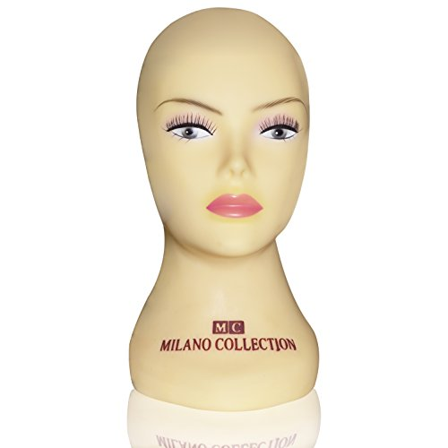 Milano Collection Storage (Milano Collection Tripod Compatible Silicone Wig Head Mannequin 12 Inches)